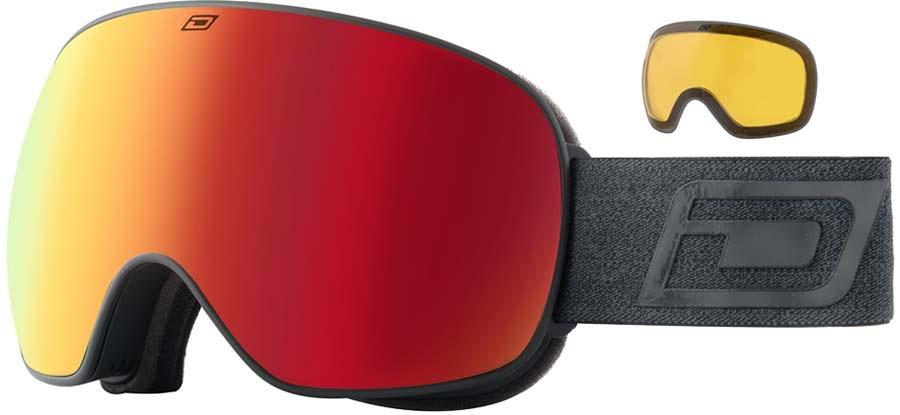 Dirty Dog Mutant 2.0 Red Fusion Ski/Snowboard Goggles, L Matte Black