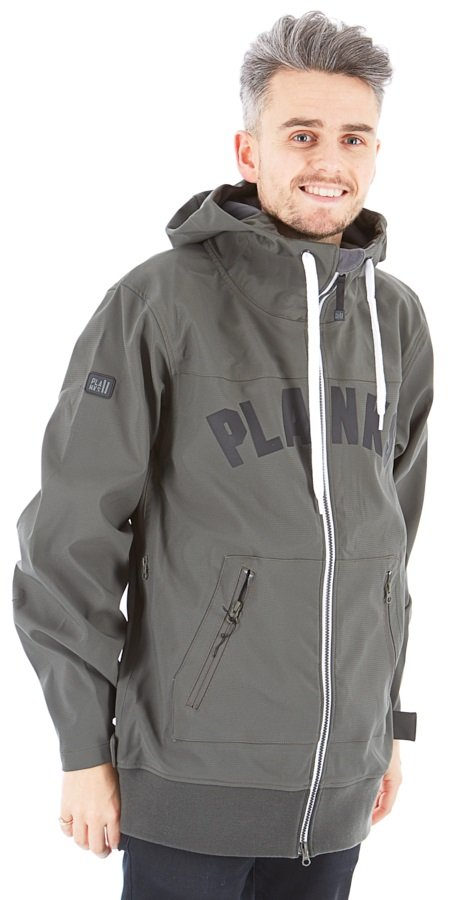Planks State Side Technical Ski/Snowboard Hoodie XS Charcoal
