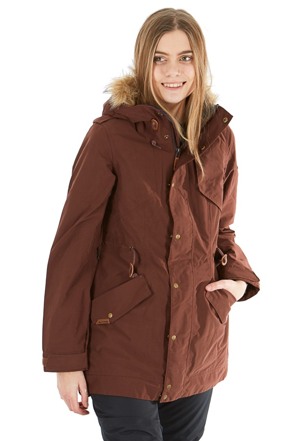 Dakine Brentwood Women's Ski/Snowboard Jacket, M Rust Brown
