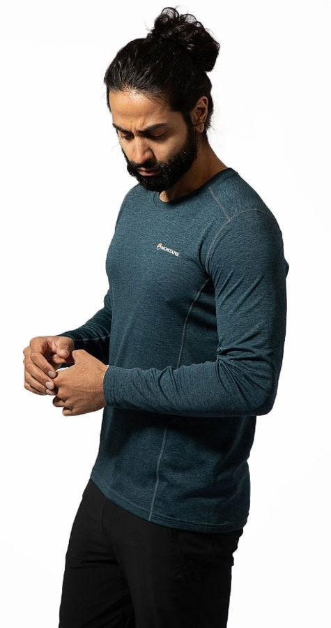 Montane Adult Unisex Dart Technical Long Sleeve Base Layer Top, M Orion Blue