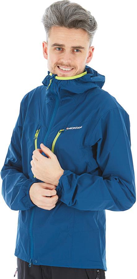 Montane Adult Unisex Alpine Edge Softshell Hiking/Climbing Jacket, L Narwhal Blue