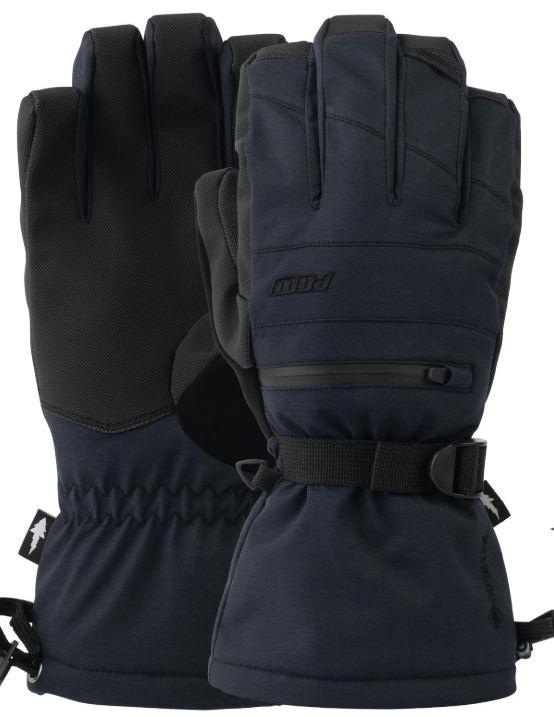 POW Wayback Gore-Tex Long Ski/Snowboard Gloves, S Black