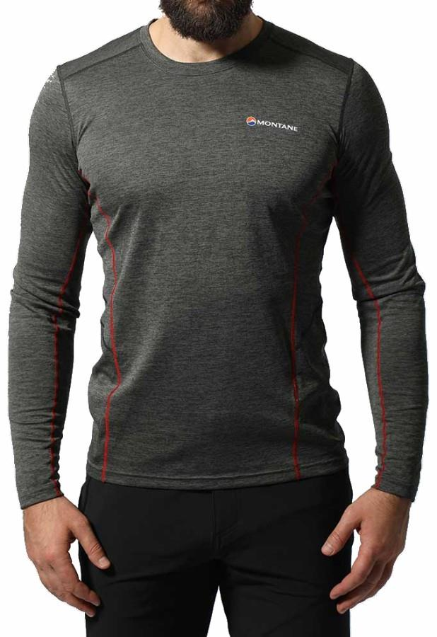 Montane Dart Technical Long Sleeve Base Layer Top, S Shadow