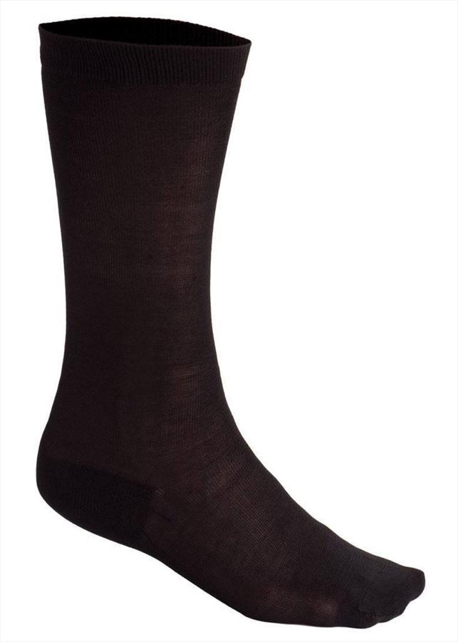Silkbody Puresilk Knee Length Liner Socks, XL Black