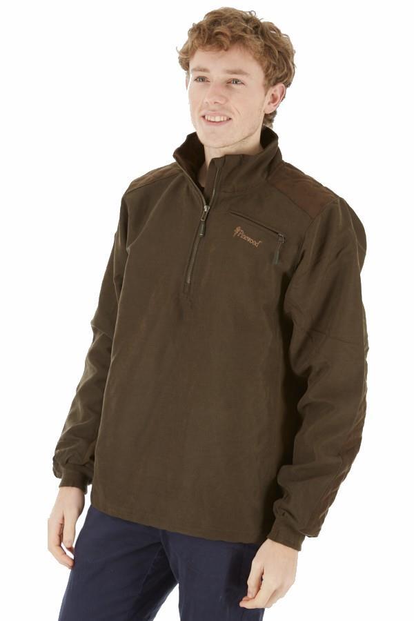 Pinewood Prestwick Water Resistant Fleece Sweater, S Suede Brown