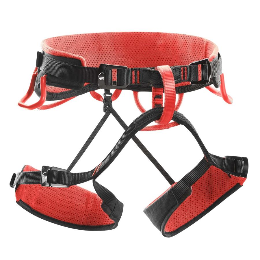 Wild Country Syncro Rock Climbing Harness, S/M Black/Red
