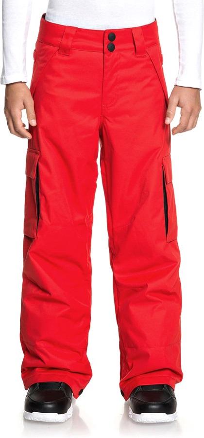 DC Boys Banshee Youth Kid's Ski/Snowboard Pants, Age 12 Racing Red