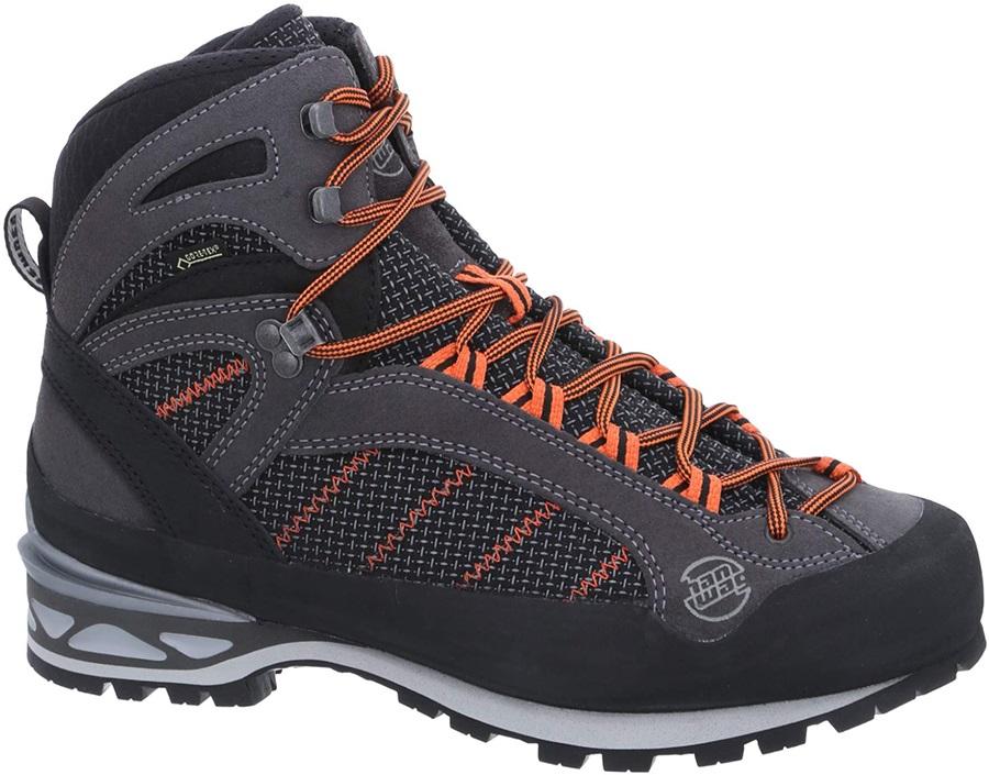 Hanwag Makra Combi GTX Hiking Boots, UK 11 Asphalt/Orange