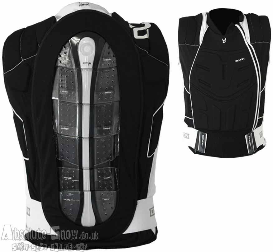 Demon Shield Ski/Snowboard Body Armour Vest XL Black