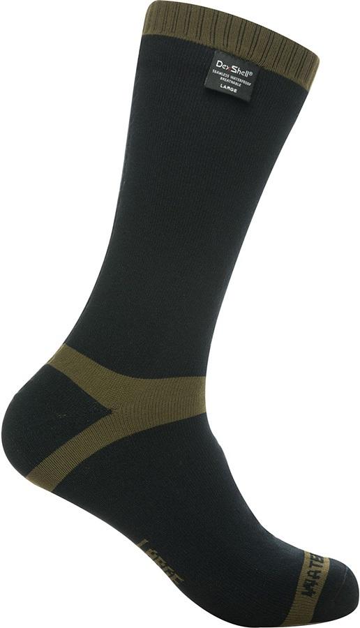 DexShell Trekking Waterproof Socks, UK 12-14 Olive Green Stripe