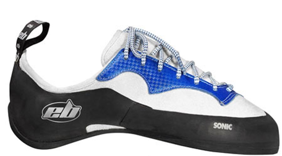 EB Sonic Lace Rock Climbing Shoe UK 5.5   EU 39 Blue/White