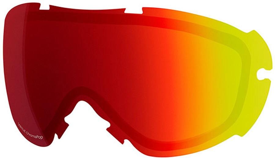Smith Virtue Snowboard/Ski Goggle Spare Lens, Chromapop Sun Red