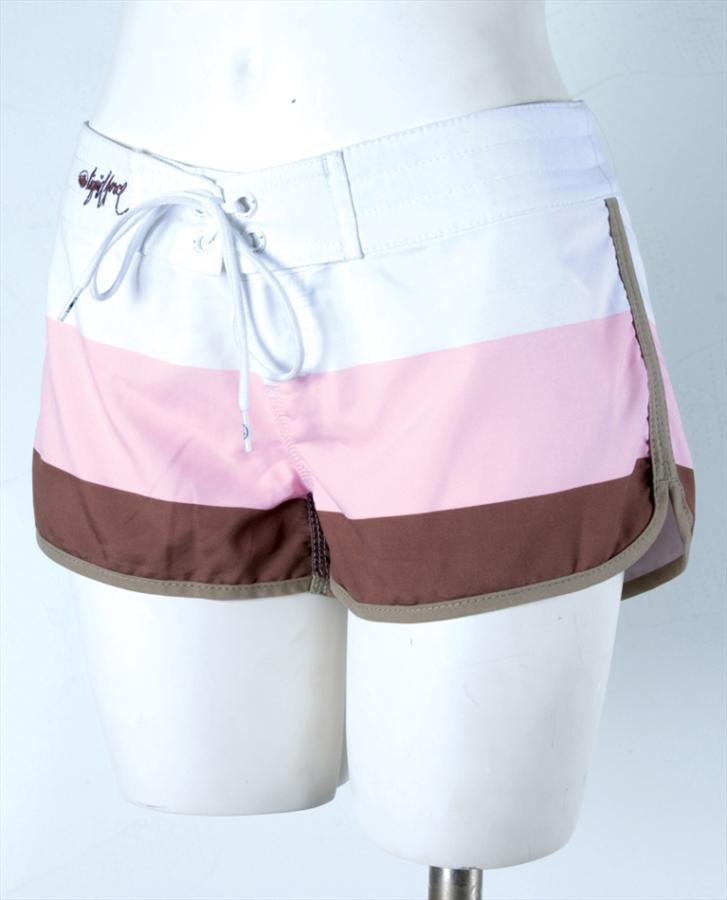 Liquid Force Candy Stripe Board Shorts, UK 8 US 4 Eur 36 Brown