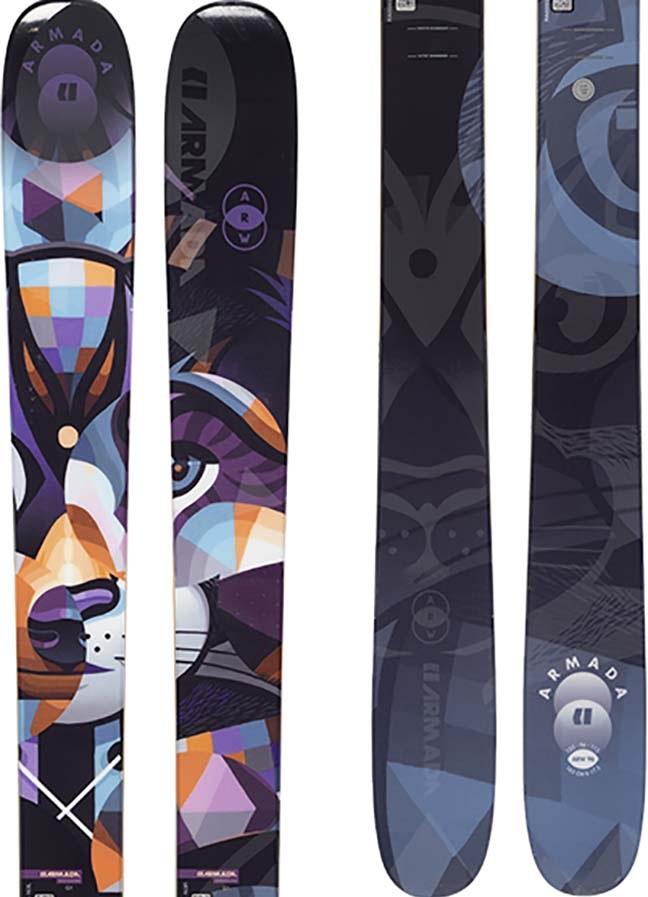 Armada ARW 96 Women's Skis 170cm, Blue/Orange/Purple, Ski Only, 2021