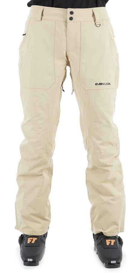 Armada Lenox Insulated Women's Ski/Snowboard Pants, M Taupe