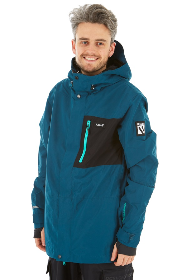 Planks Feel Good Ski/Snowboard Jacket, S Ocean Blue