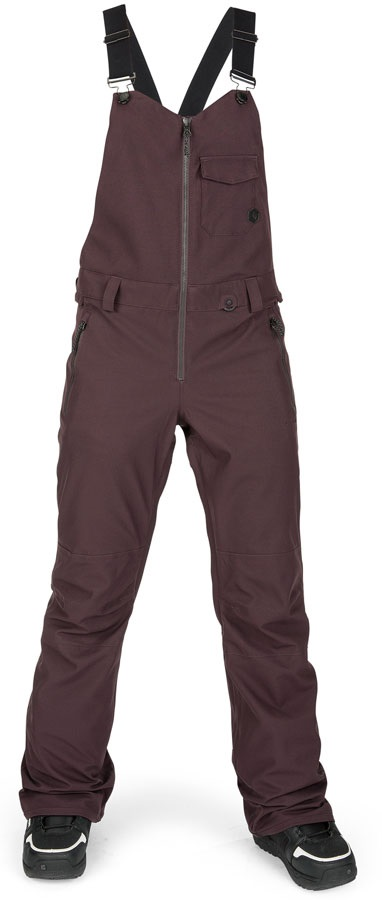 Volcom Swift Bib Overall Women's Snowboard/Ski Pants UK 12 Black Red