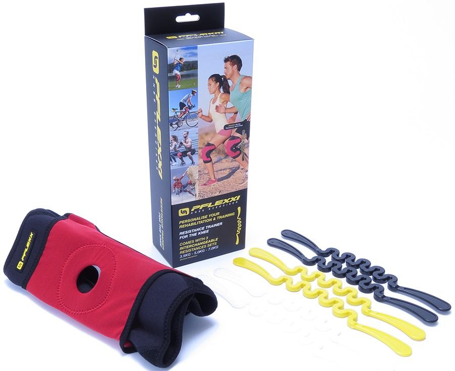 PFlexx Wraparound Knee Brace Cross Fit Trainer, M Red