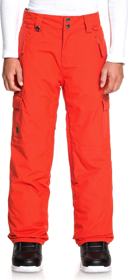 Quiksilver Child Unisex Porter Youth Ski/Snowboard Pants, Age 13-14 Poinciana