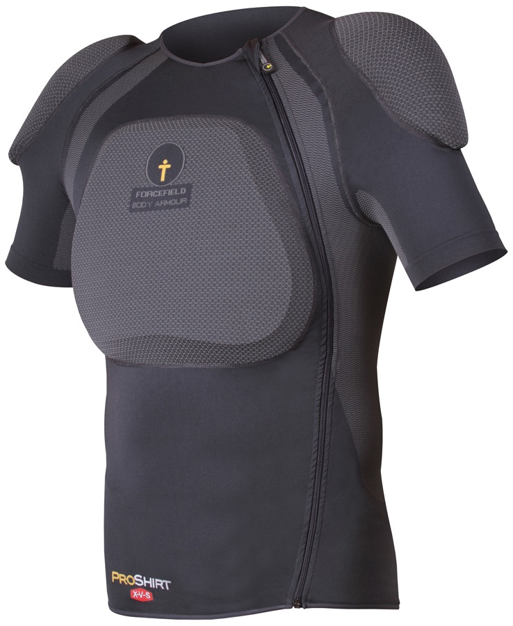 Forcefield Pro Shirt X-V-S Body Armour With Back Protector, XXL, Grey