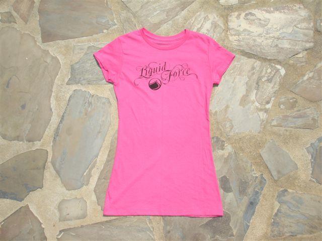 Liquid Force Ladies Smooth Knit SS Ladies T Shirt XL Pink