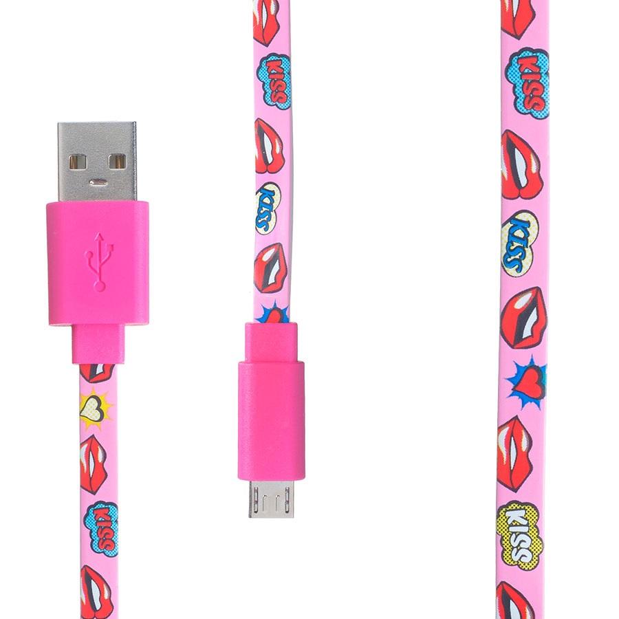 Pop Power Micro USB Samsung/Sony/LG Phone Charging Cable, 1m, Lips
