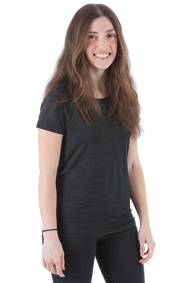Mountain Hardwear Mighty Stripe Technical T-Shirt, UK 10 Stealth Grey