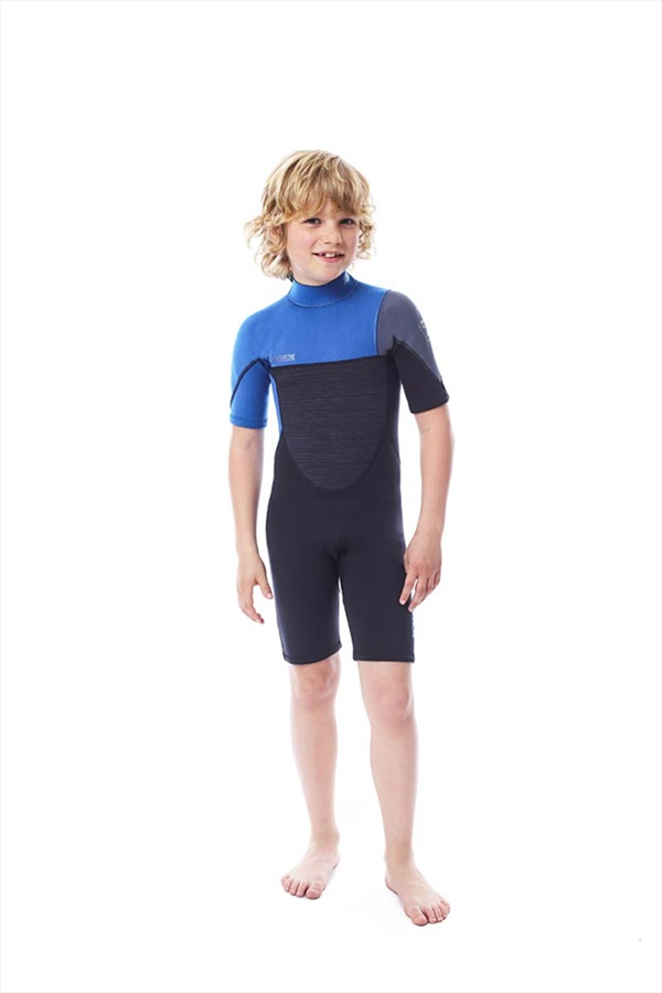 Jobe Boston 2mm Kids Shorty Wetsuit, M Black Blue
