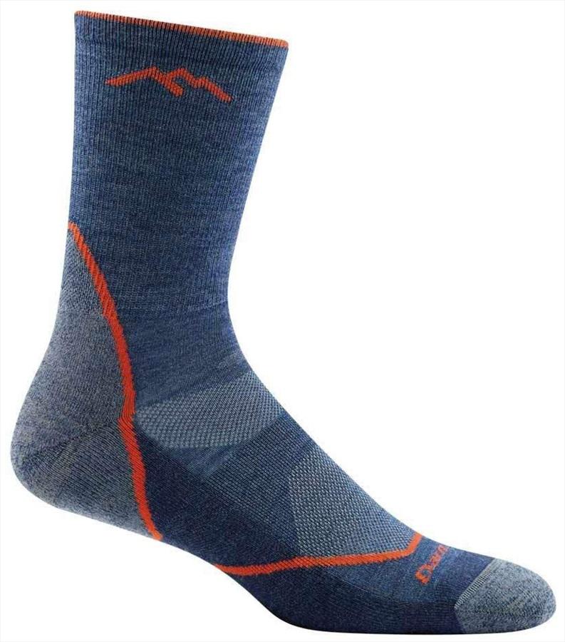 Darn Tough Adult Unisex Light Hiker Micro Crew Hiking Socks, M Denim