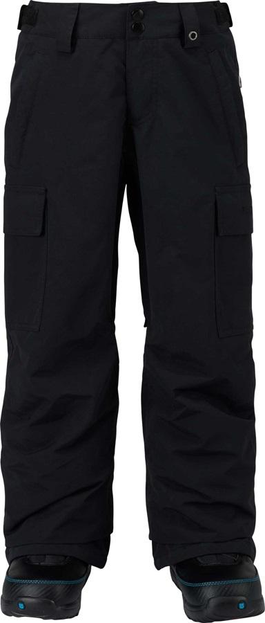 Burton Boys Exile Cargo Snowboard Ski Pants 7-8 Years True Black