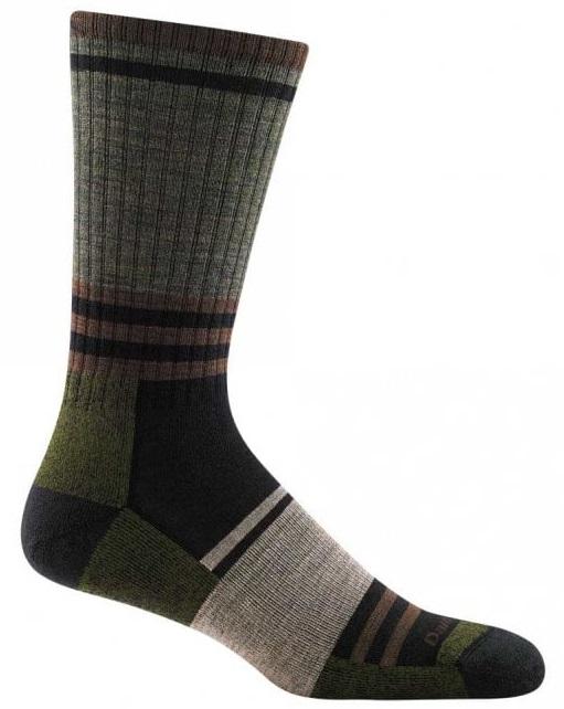 Darn Tough Adult Unisex Spur Boot Light Cushion Hiking Socks, L Fatigue