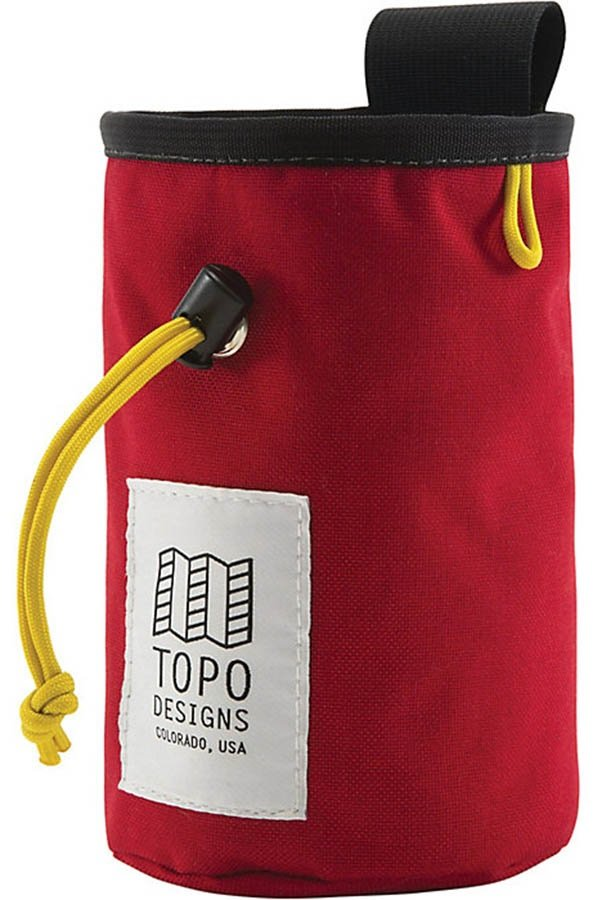 Topo Designs Hipster Rock Climbing Chalk Bag, Red