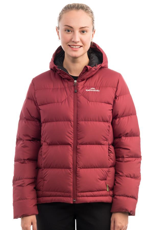 Kathmandu Epiq V2 Women's Insulated Down Jacket, UK 12 Burgundy