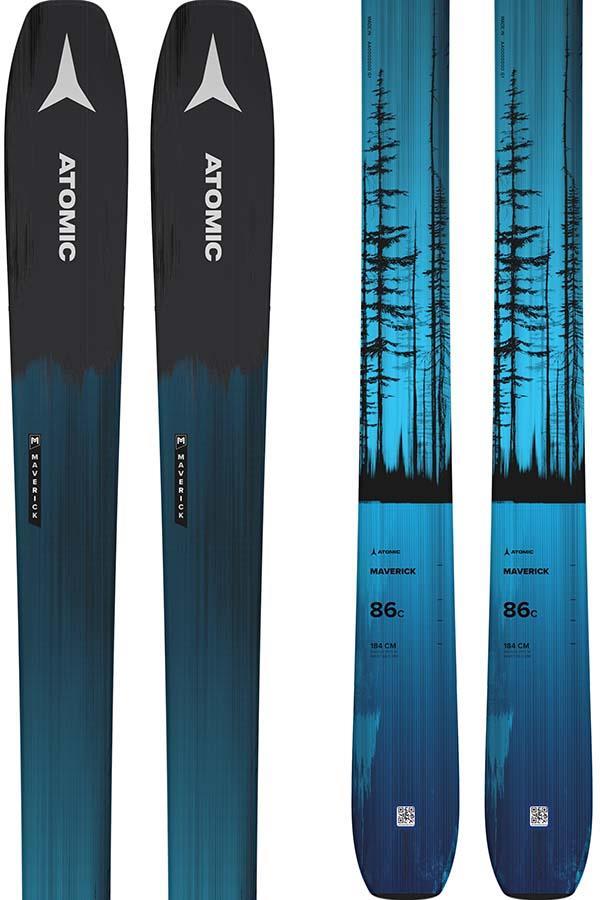 Atomic Maverick 86 C Ski Only Skis, 169cm Black / Blue 2022