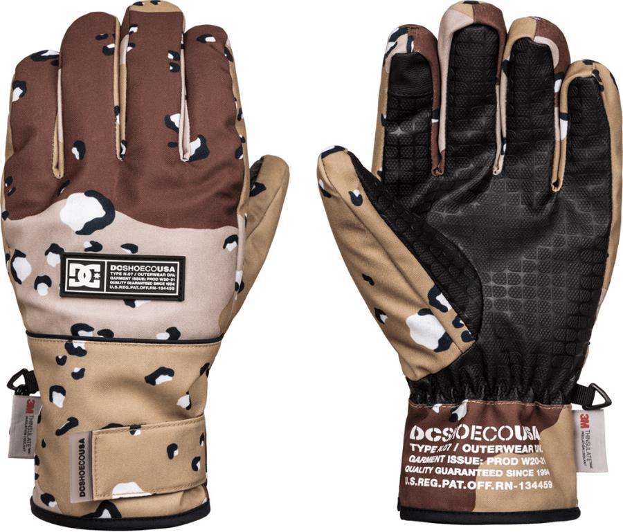 DC Franchise SE Ski/Snowboard Gloves, L Chocolate Chip Camo Split