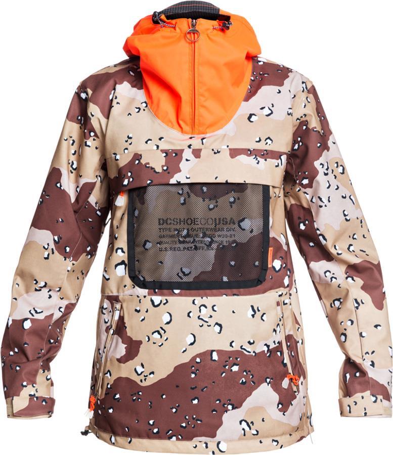 DC ASAP Anorak Ski/Snowboard Shell Jacket, M Chocolate Chip Camo