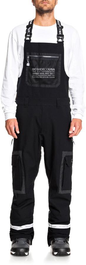 DC Revival Ski/Snowboard Shell Bib Pants, S Black