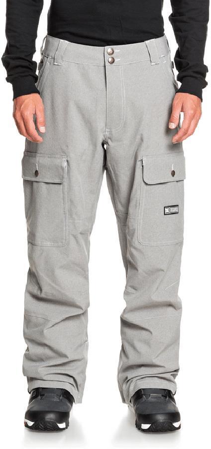 DC Code Ski/Snowboard Shell Pants, M Frost Grey