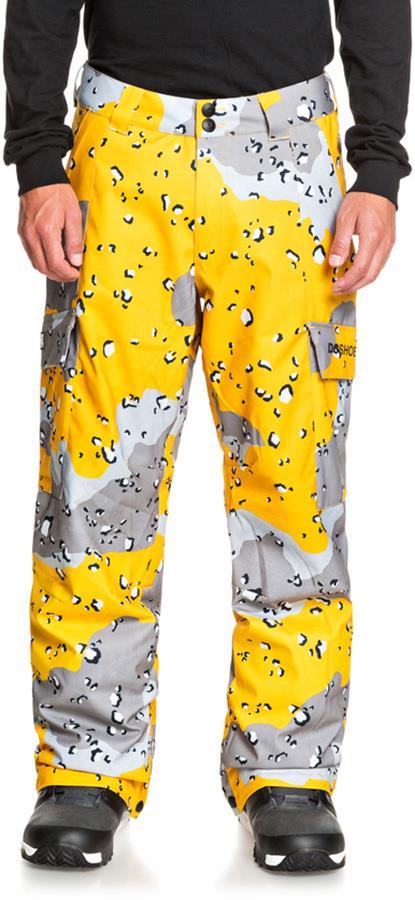 DC Banshee Ski/Snowboard Insulated Pants, L Chocolate Chip Lemon