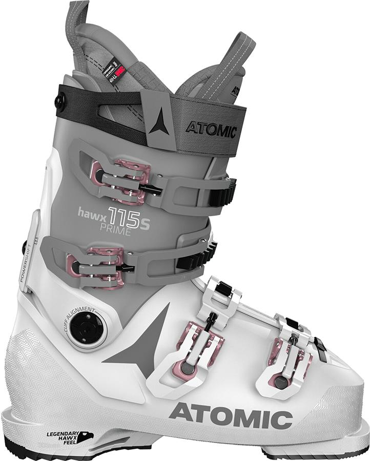 Atomic Hawx Prime 115 S W Women's Ski Boots, 25/25.5 Light Grey 2021
