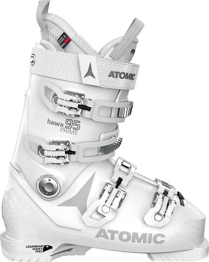 Atomic Hawx Prime 95 W Women's Ski Boots, 24/24.5 White/Silver 2022
