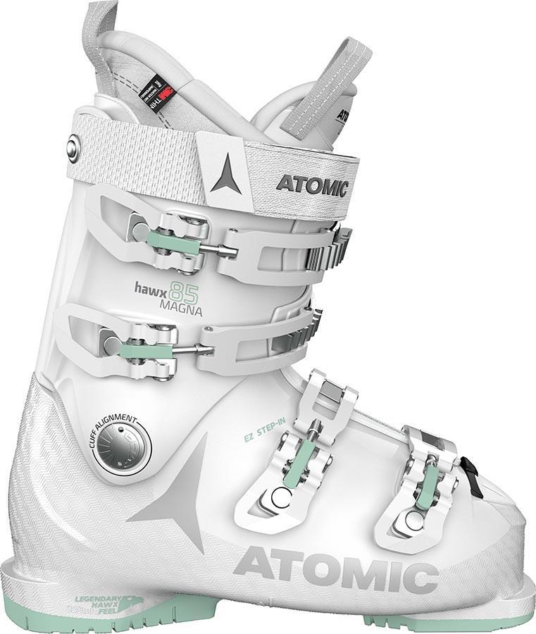 Atomic Hawx Magna 85W Ski Boots, 23/23.5 White/Light Grey
