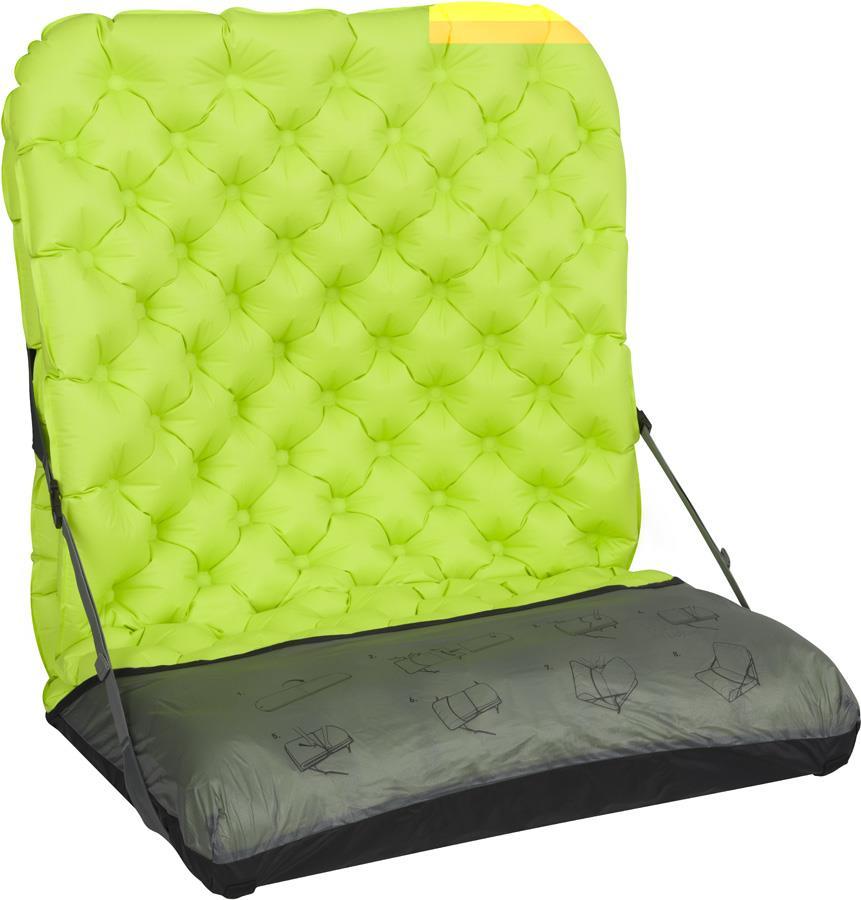 Sea to Summit Air Chair Mat To Camp Chair Converter, L Black