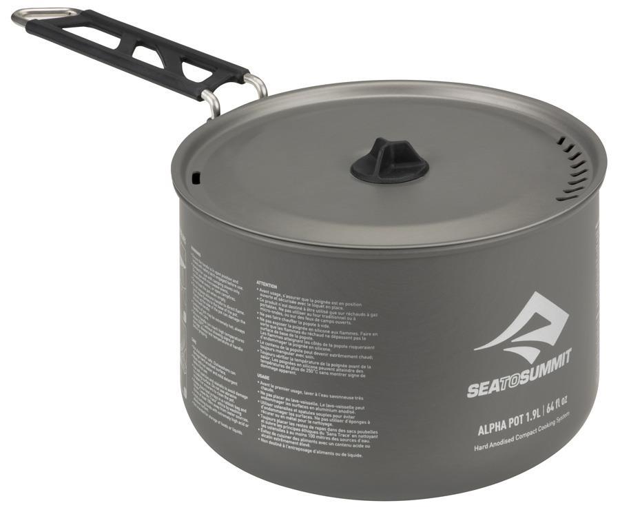Sea to Summit Alpha Pot Lightweight Camping Cookware, 1.9L Grey