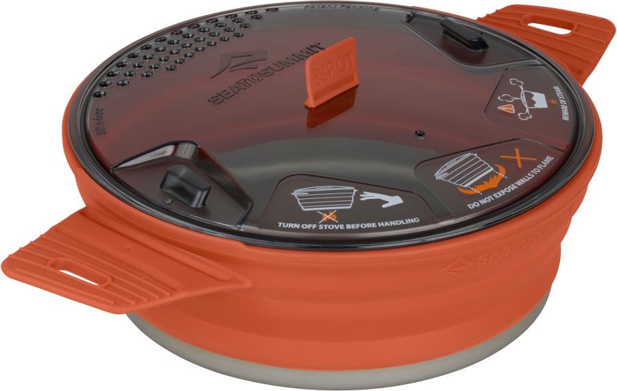 Sea to Summit X-Pot 1.4L Cooking Pot Camping Cookware 1.4L Rust