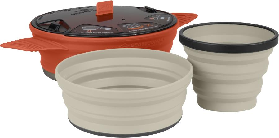 Sea to Summit X-Set 21 Camping & Backpacking Cookset, Rust/Sand