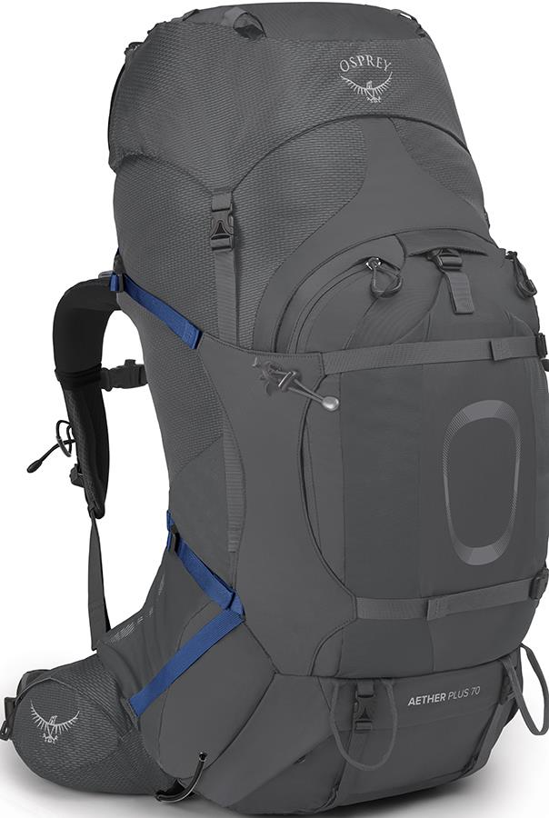 Osprey Aether Plus 70 S/M Expedition Backpack, 68L Eclipse Grey