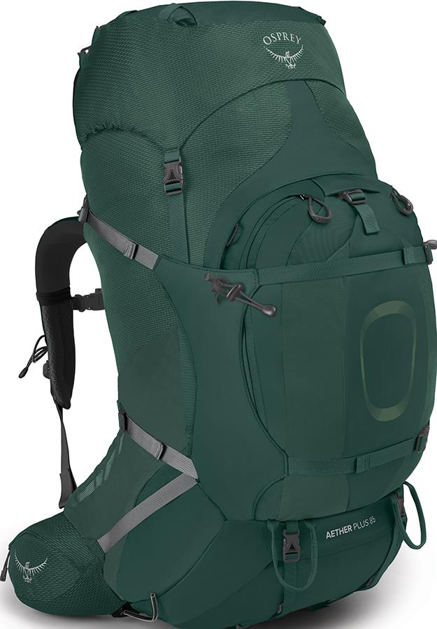 Osprey Aether Plus 85 L/XL Expedition Backpack, 85L Axo Green
