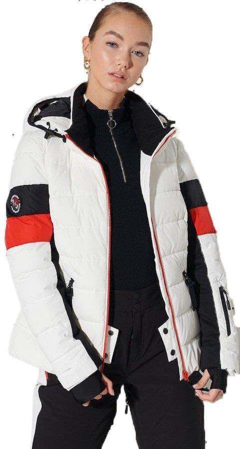 Superdry Alpine Revive Women's Ski/Snowboard Jacket, UK 12 White