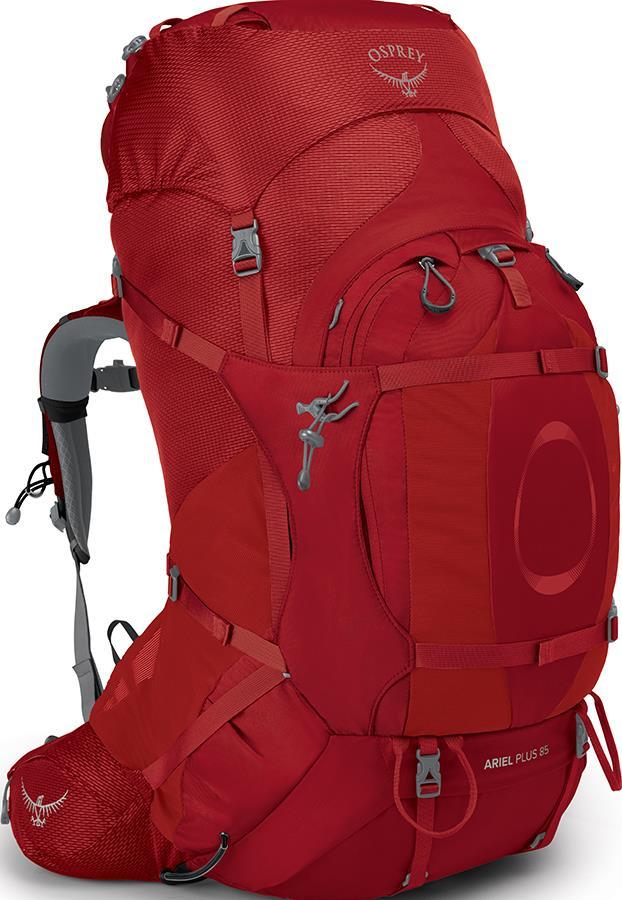 Osprey Ariel Plus 85 Women's M/L Expedition Backpack 85L Carnelian